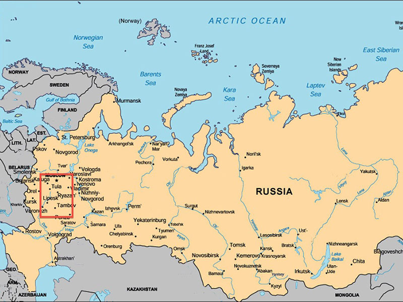 Russia map carte